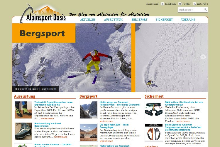 Referenz Alpinsport-Basis